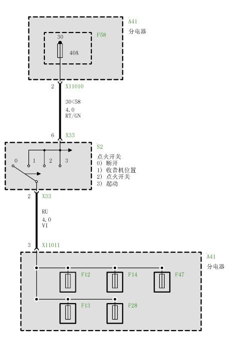 宝马座椅占用识别传感器电路图